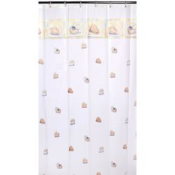 Excell Home Fashions Shells Vinyl Shower Curtain