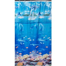 Excell Home Vinyl Sealife Shower Curtain