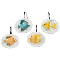 Creative Bath Rainbow Fish Shower Curtain Hooks