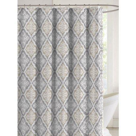 CHD Home Textiles Katia Shower Curtain With Hooks