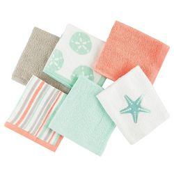 West Point 6-pc. Starfish Washcloth Set