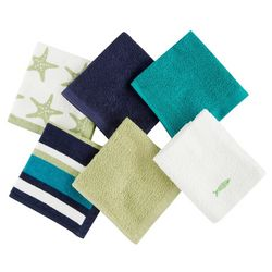 West Point 6-pc. Fish Washcloth Set
