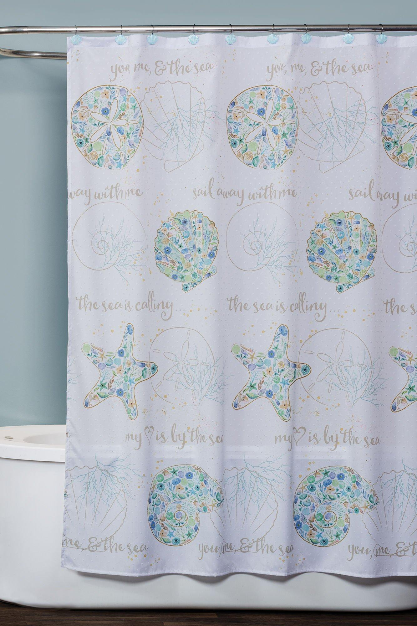 Saturday Knight Seaside Blossoms Shower Curtain