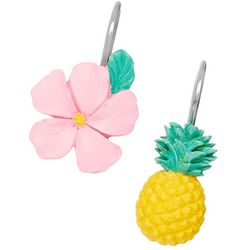 Saturday Knight 12-pc. Pineapple Shower Hook Set