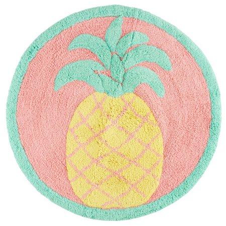 Saturday Knight Flamingo Fever Pineapple Bath Rug