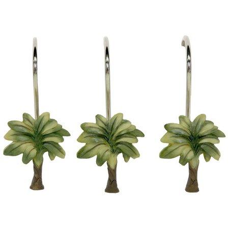 Bacova 12-pc. Citrus Palm Shower Curtain Hooks