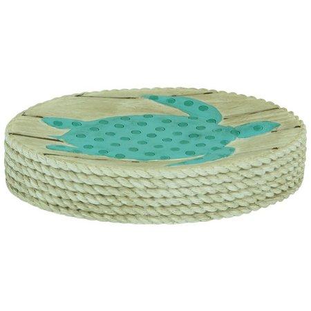 Bacova Coastal Patch Aqua Soap Dish