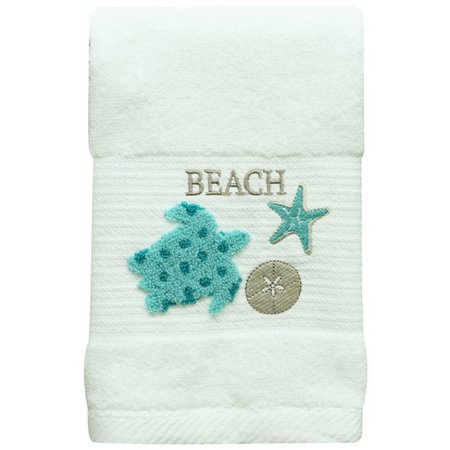Bacova Coastal Aqua Sea Turtle Hand Towel