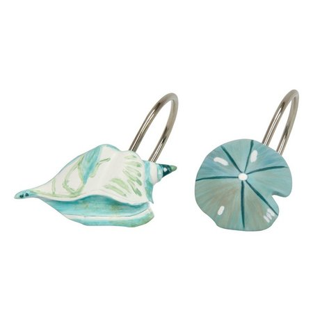 Bacova 12-pc. La Mer Collection Shower Hooks