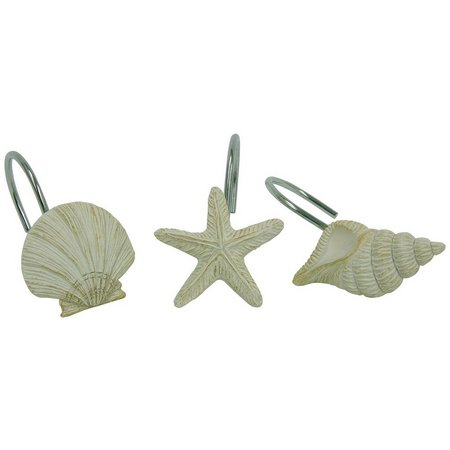 Bacova Coastal Moonlight 12-pk. Shower Hooks