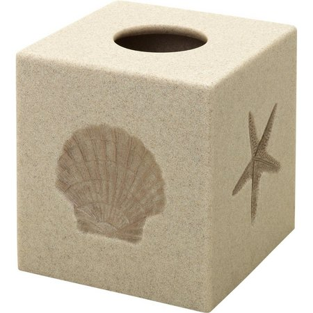 India Ink Rustic Shell Tissue Box