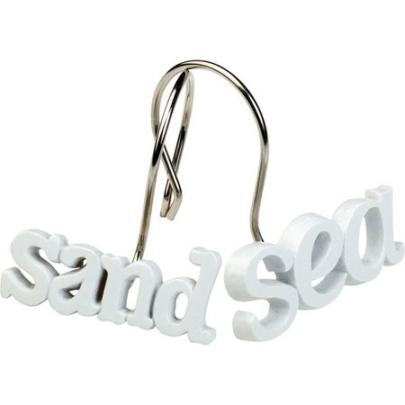 India Ink Beach Words Shower Hook