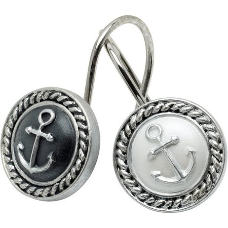 India Ink Anchor Shower Curtain Hooks