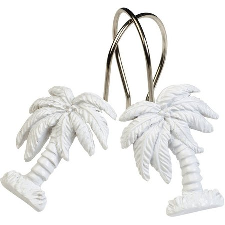 India Ink 12-pc. White Palm Tree Shower Hook