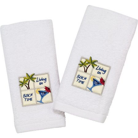Avanti Beach Time 2-pk. Fingertip Towel Set