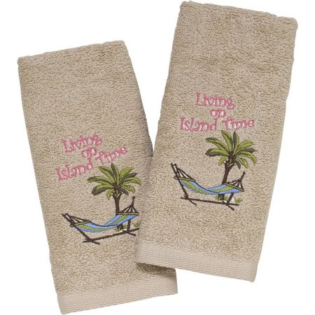 Avanti Island Time 2-pk. Fingertip Towel Set