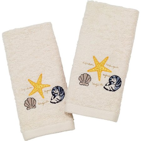Avanti Coastal Cove 2-pk. Fingertip Towel Set
