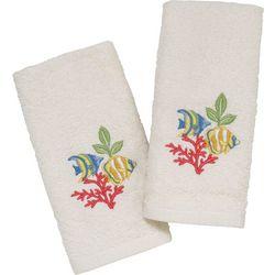 Avanti Coral Fish 2-pk. Fingertip Towel Set