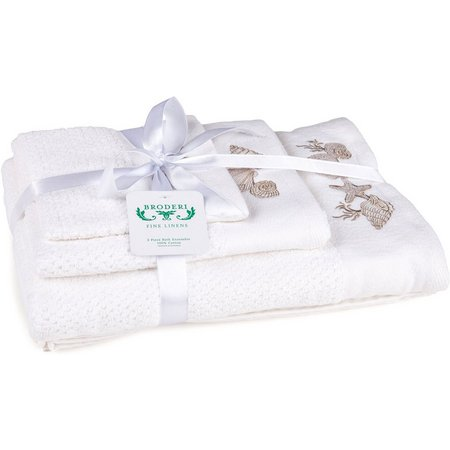 American Dawn White Shells Towel Collection
