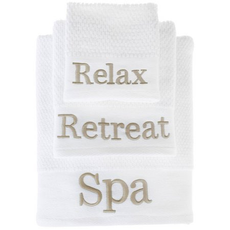 American Dawn Sand Spa Words Towel Collection