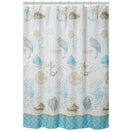 Caribbean Joe Shell Stories Shower Curtain