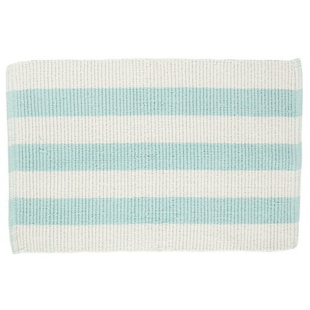 Moda Loop Stripe Reversible Cotton Bath Rug