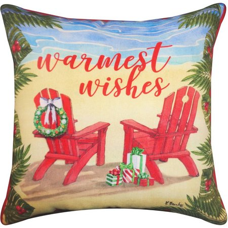 Brighten the Season Warmest Wishes Chairs Pillow