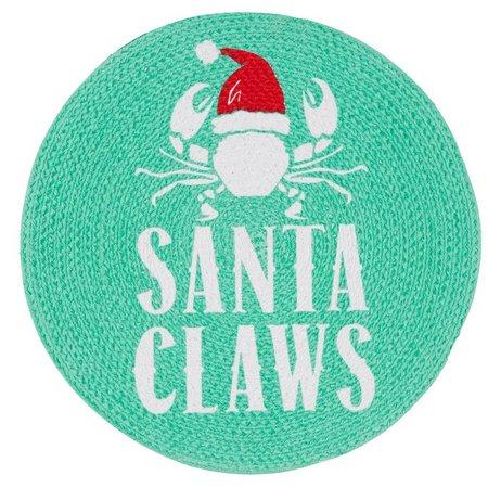 Homewear Braided Santa Claws Placemat