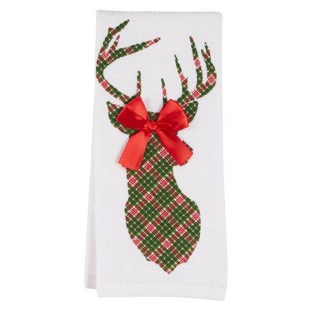 Homewear Plaid Reindeer Kitchen Towel