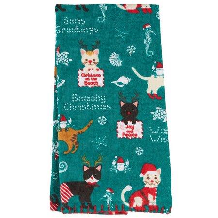 Homewear Christmas Cats Kitchen Towel