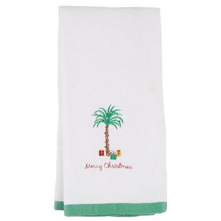 Homewear Christmas Palm Embroidered Hand Towel