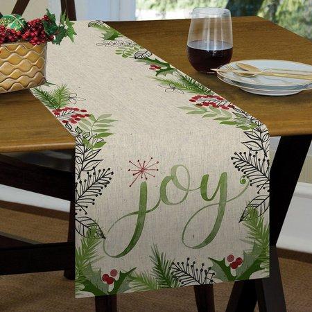 Brighten the Season Joy Berry Table Runner
