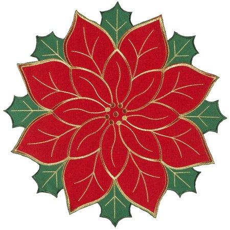 Brighten the Season Poinsettia Die Cut Placemat