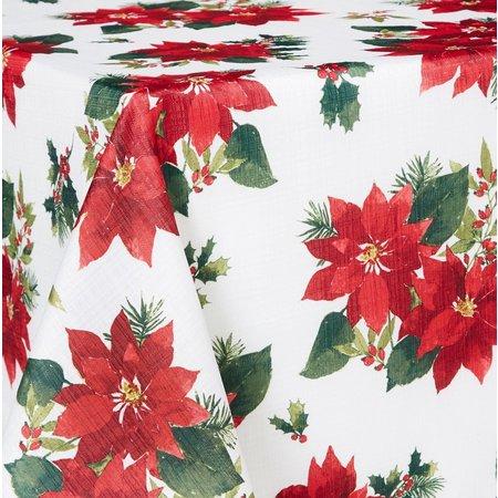 Arlee Winter Poinsettia Tablecloth