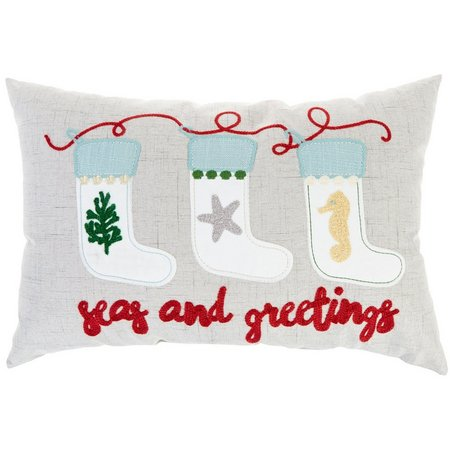 Arlee Seas & Greetings Stockings Decorative Pillow