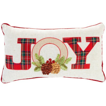 Arlee Joy Plaid Holiday Decorative Pillow