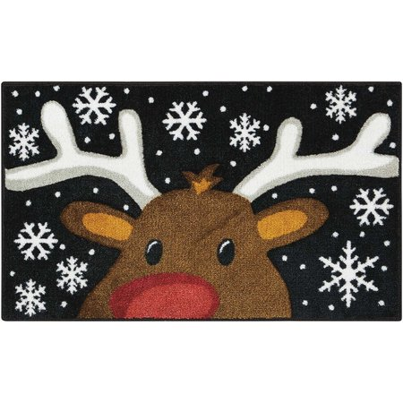 Brighten the Season Reindeer Rug