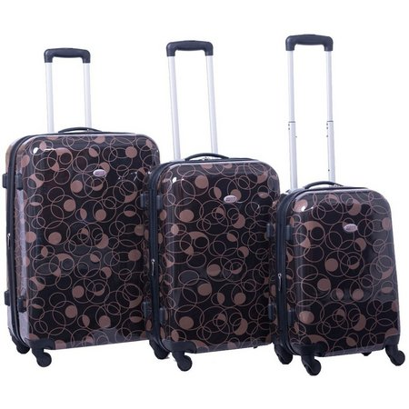 American Flyer Swirl 3-pc. Hardside Spinner Luggage Set