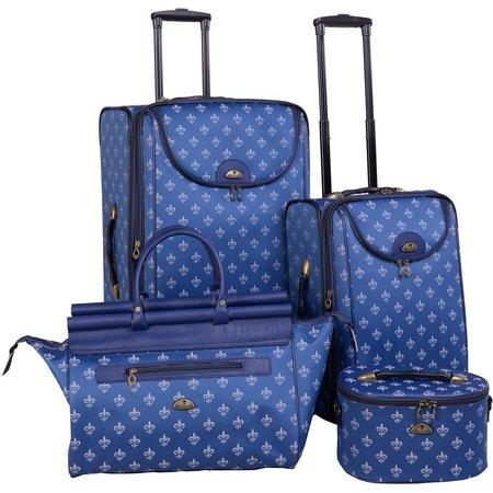 American Flyer 4-pc. Fleur De Lis Luggage Set