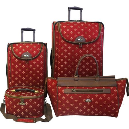 American Flyer 4-pc. Fleur De Lis Luggage Set