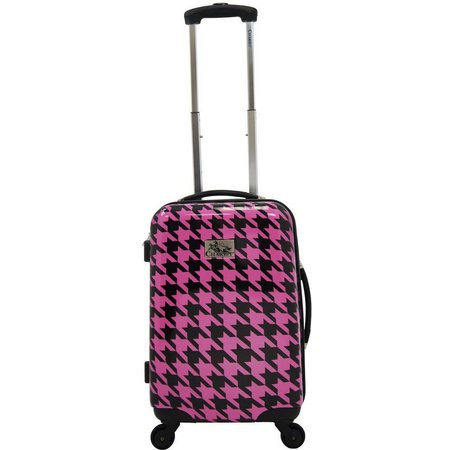 Chariot 20'' Houndstooth Hardside Spinner Luggage