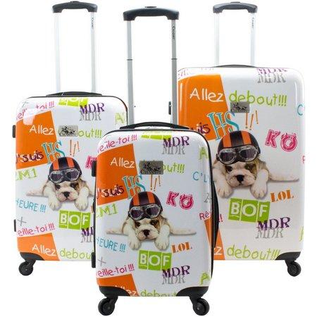Chariot 3-pc. Flying Dog Hardside Luggage Set