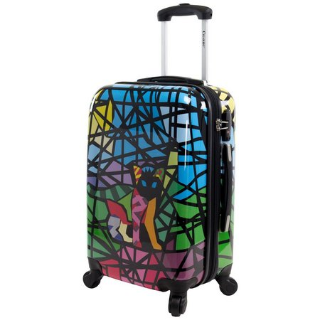 Chariot 20'' Glass Black Hardside Spinner Luggage