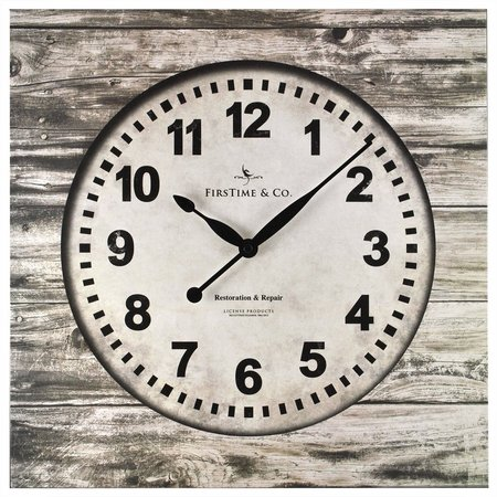 FirsTime 15.5'' Weathered Square Wall Clock