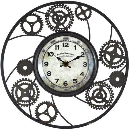 FirsTime 11'' Gears Studio Wall Clock