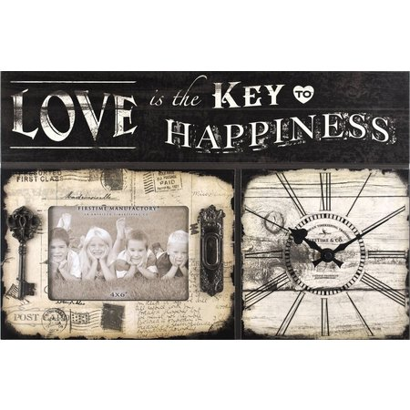 FirsTime Love Is Key Wall Clock