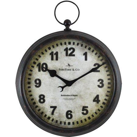 FirsTime 15.5'' Metal Pocket Watch Wall Clock