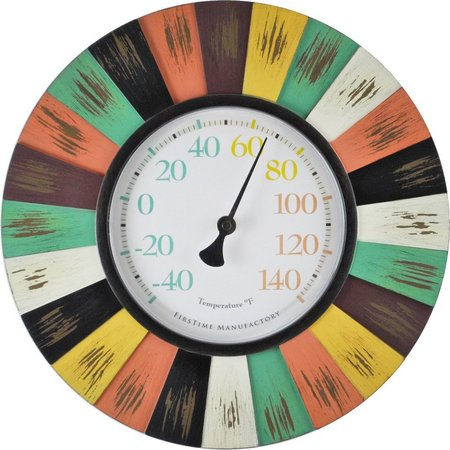 FirsTime 13'' Coral Burst Wall Thermometer