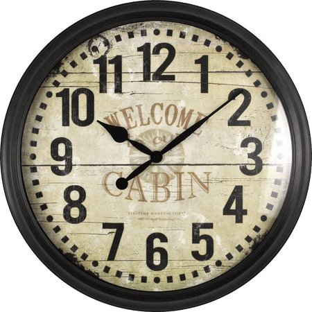 FirsTime 20'' Whisper Cabin Wall Clock
