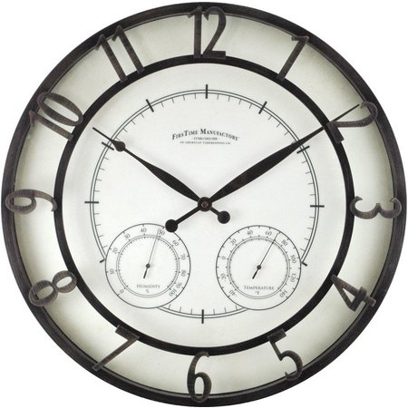 FirsTime 18'' Park Outdoor Wall Clock